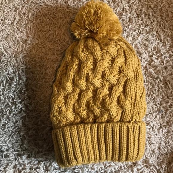 23720a64141c82 Accessories | Mustard Yellow Knit Hat | Poshmark